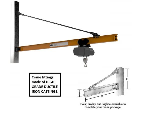 WALL BRACKET - TIE ROD JIB CRANE