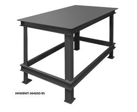 SUPER HEAVY-DUTY WORKBENCHES WITH TOP SHELF ONLY